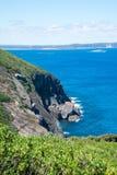 En scenisk sikt för sydligt hav i den västra uddeHowe nationalparken nära Albany Arkivbilder