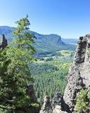 En scenisk sikt från den västra gaffeldalen förbiser i Colorado Arkivbild