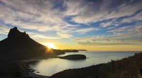 En scenisk sikt från Mirador utkik, San Carlos, Sonora, Mexico royaltyfri fotografi