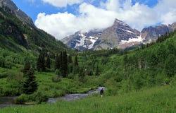 En scenisk sommar på rödbruna Klockor, Colorado royaltyfri foto