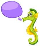En seahorse med en callout Royaltyfri Bild