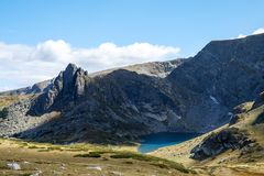 En second lieu lac Rila image stock