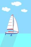 En segelbåt eller en segelbåt Royaltyfri Foto