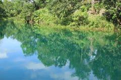 En semblant l'eau bleue faites vos yeux être frais et santé Photographie stock