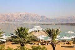 En semesterort på det döda havet i Israel Arkivfoton