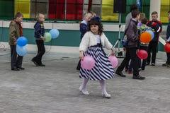En serie av händelser i 2016 på datumet av den Tjernobyl olyckan i den Gomel regionen av Vitryssland Royaltyfri Foto