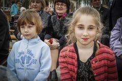 En serie av händelser i 2016 på datumet av den Tjernobyl olyckan i den Gomel regionen av Vitryssland Royaltyfri Fotografi
