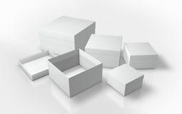 En serie av illustrationen för kartong 3d Arkivfoto