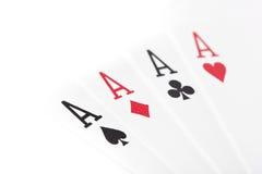 En set av leka kort Arkivfoton
