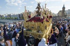 En Sevilla de la semana santa Imágenes de archivo libres de regalías