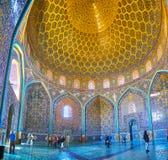 En Sheikh Lotfollah Mosque, Isphahan, Iran images stock