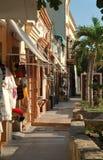 En shoppingboulevard i San Jose del Cabo, Mexico royaltyfria foton
