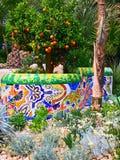 En showträdgård på Chelsea Flower Show Royaltyfria Bilder