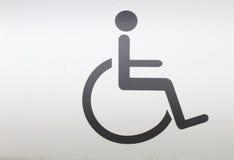 En signage av rullstolen Royaltyfri Fotografi