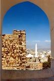 En sikt över den Taiz staden Arkivfoton