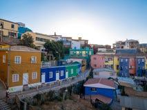 En sikt över Valparaiso Arkivfoto
