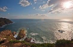 En sikt av Atlanticet Ocean Arkivbild