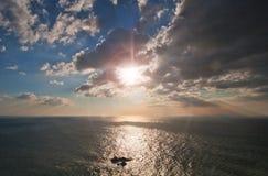 En sikt av Atlanticet Ocean Arkivfoto