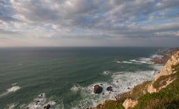 En sikt av Atlanticet Ocean Arkivbilder