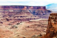 En sikt av Canyonlands, Utah Royaltyfri Bild
