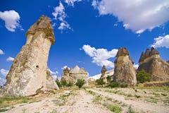 En sikt av cappadociaen Royaltyfri Foto