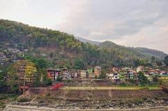 En sikt av Darjeeling Arkivfoton