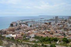 En sikt av den Alicante hamnen Royaltyfri Bild
