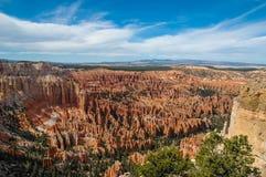 En sikt av den Bryce kanjonen, Utah, USA Arkivbilder
