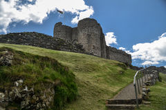 En sikt av den Criccieth slotten Gywnedd Wales Royaltyfria Bilder