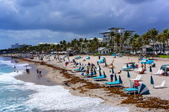 En sikt av den Deerfield stranden Florida Royaltyfri Foto