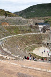 En sikt av den enorma stadion på Ephesusen fördärvar Royaltyfria Bilder