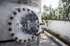 En sikt av den gamla vattenpipblåsaren arkivfoto