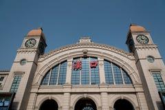En sikt av den Hankou järnvägsstationen, wuhan stad, porslin fotografering för bildbyråer