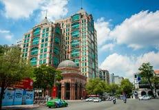 En sikt av den Ho Chi Minh staden, Vietnam royaltyfria bilder