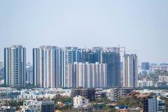 En sikt av den Hyderabad staden från det Golconda fortet royaltyfri bild