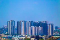En sikt av den Hyderabad staden från det Golconda fortet royaltyfria foton