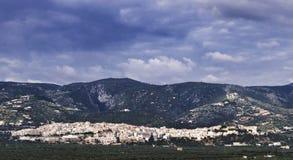 En sikt av den Mattinata staden, Gargano - Apulia Royaltyfria Foton