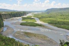 En sikt av den Pastaza floden, Ecuador arkivbilder