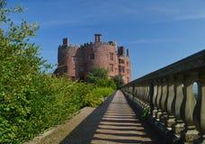 En sikt av den Powis slotten Fotografering för Bildbyråer