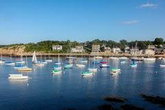 En sikt av den Rockport hamnen Fotografering för Bildbyråer