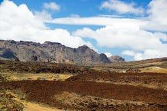 En sikt av den Teide nationalparken i Tenerife, Spanien royaltyfria foton