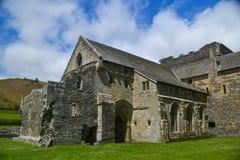 En sikt av den Valle Crusis abbotskloster - Denbighshire Fotografering för Bildbyråer