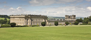 En sikt av det Chatsworth huset, Great Britain Royaltyfri Fotografi