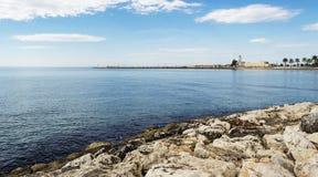 En sikt av det Manfredonia havet - Gargano Arkivbild