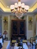 En sikt av en vardagsrum Royaltyfri Foto