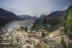 En sikt av felika ängar, Pakistan Royaltyfri Fotografi