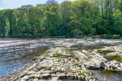 En sikt av floden Lune nära Lancaster Royaltyfria Foton
