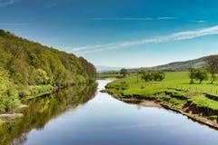 En sikt av floden Lune nära Lancaster Royaltyfria Bilder