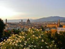 En sikt av Florence från piazzalen Michelangelo Royaltyfri Bild