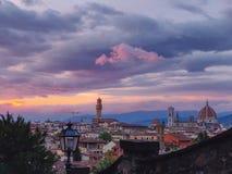 En sikt av Florence royaltyfri foto